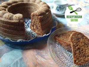 Reseptin kuva: Pähkinäinen suklaa-lanttukakku